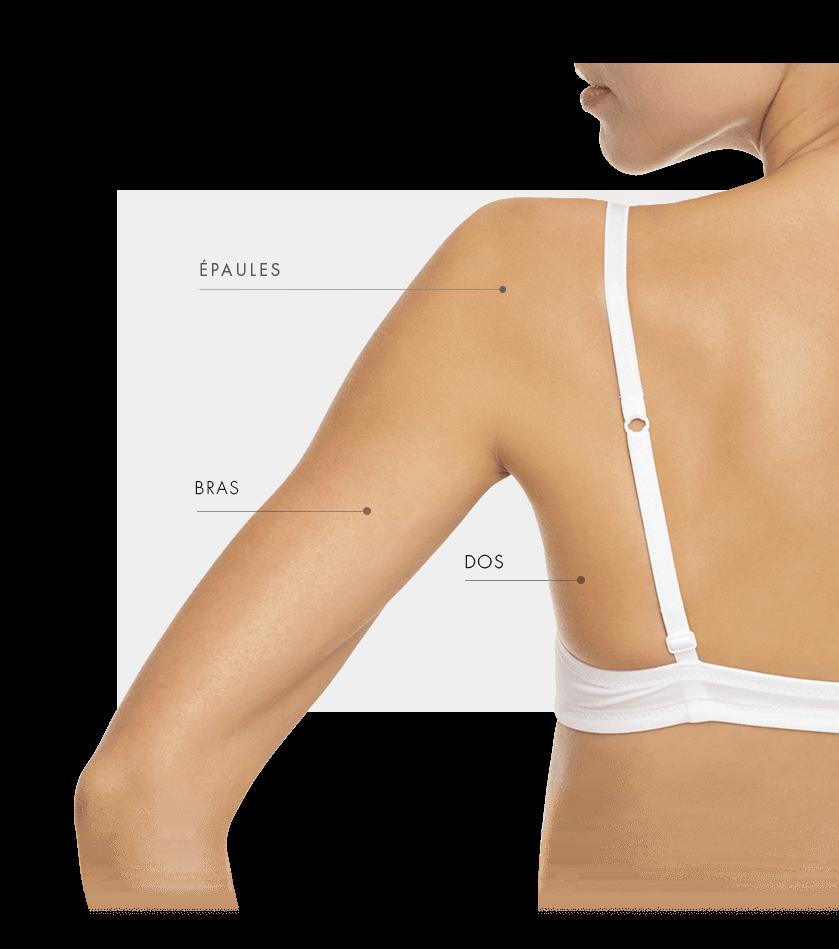 zone traitable hydrafacial femme dos