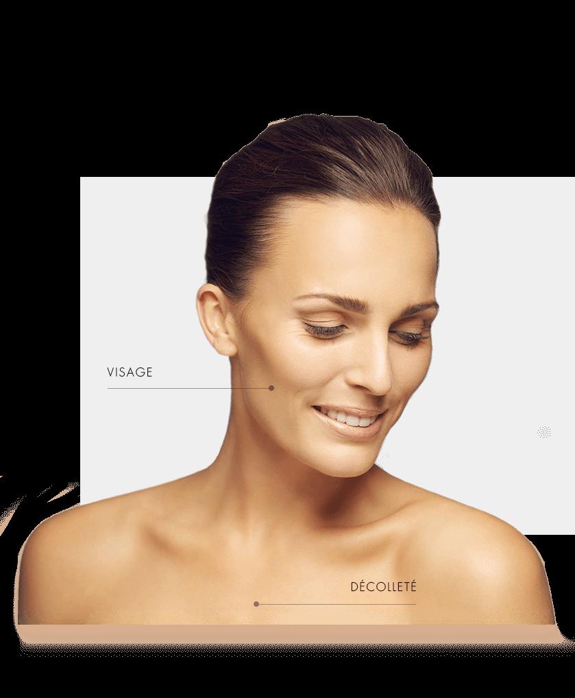 lasers fractionnes visage femme