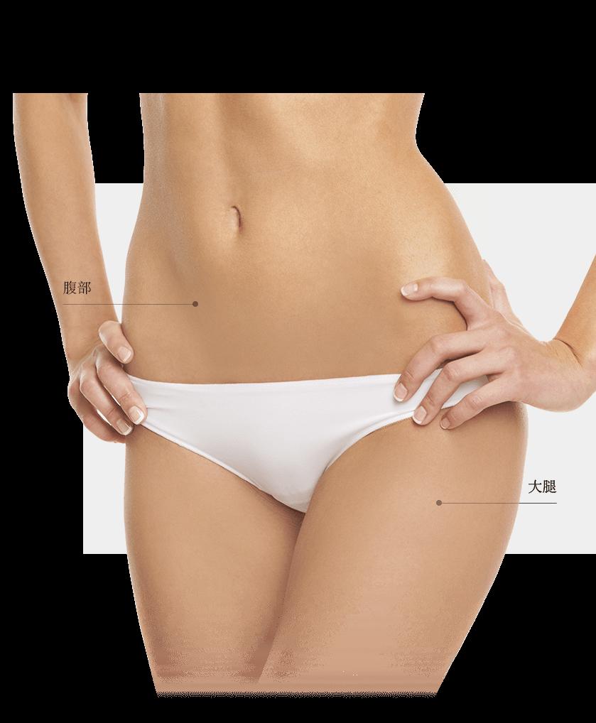 Lasers fractionnés zones ventre femme