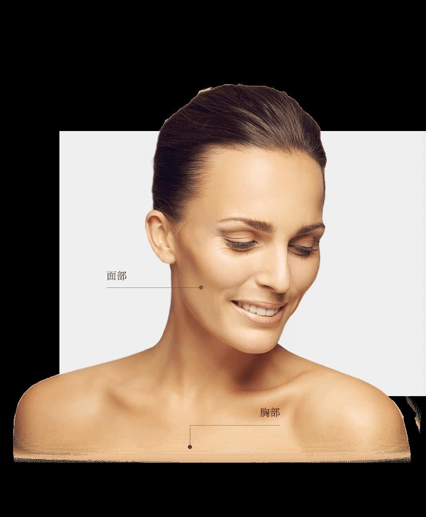 Lasers fractionnés zones visage femme