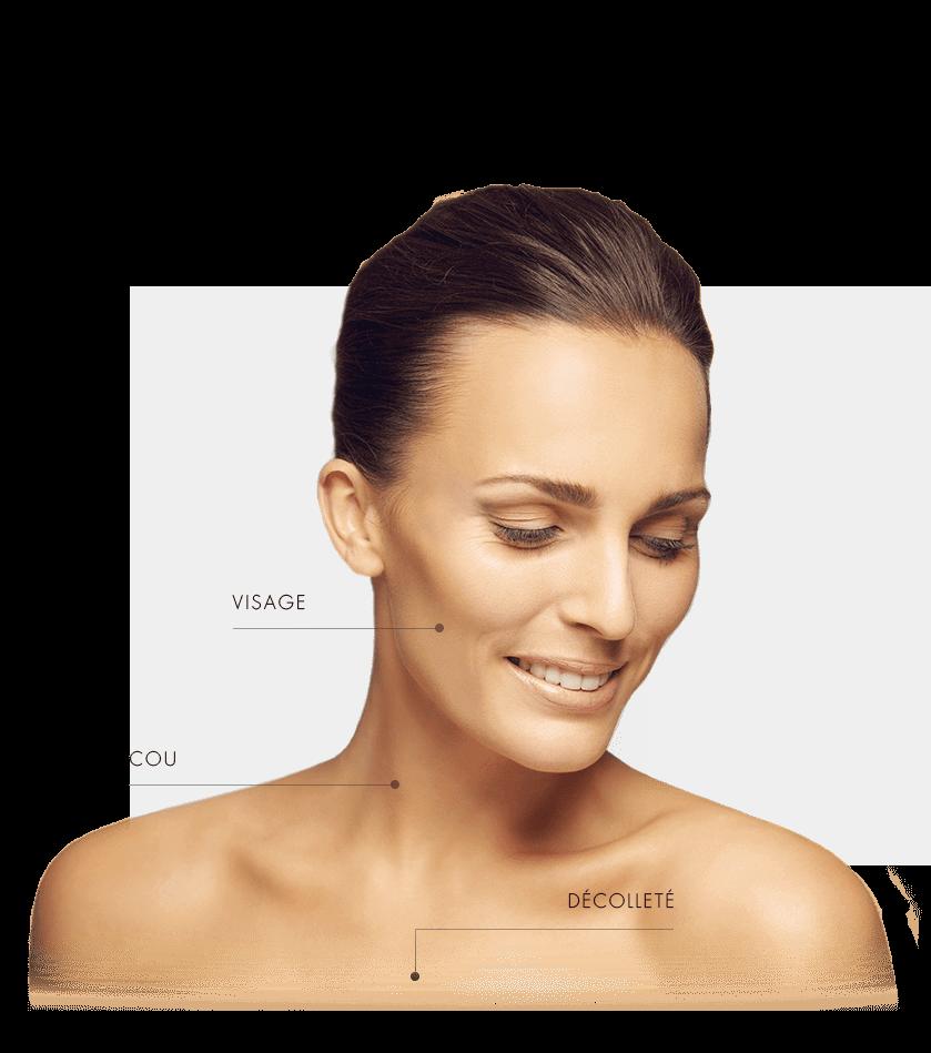 peeling-gycolique femme zone visage