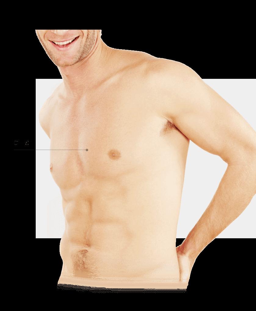 Photorejuvenation men chest