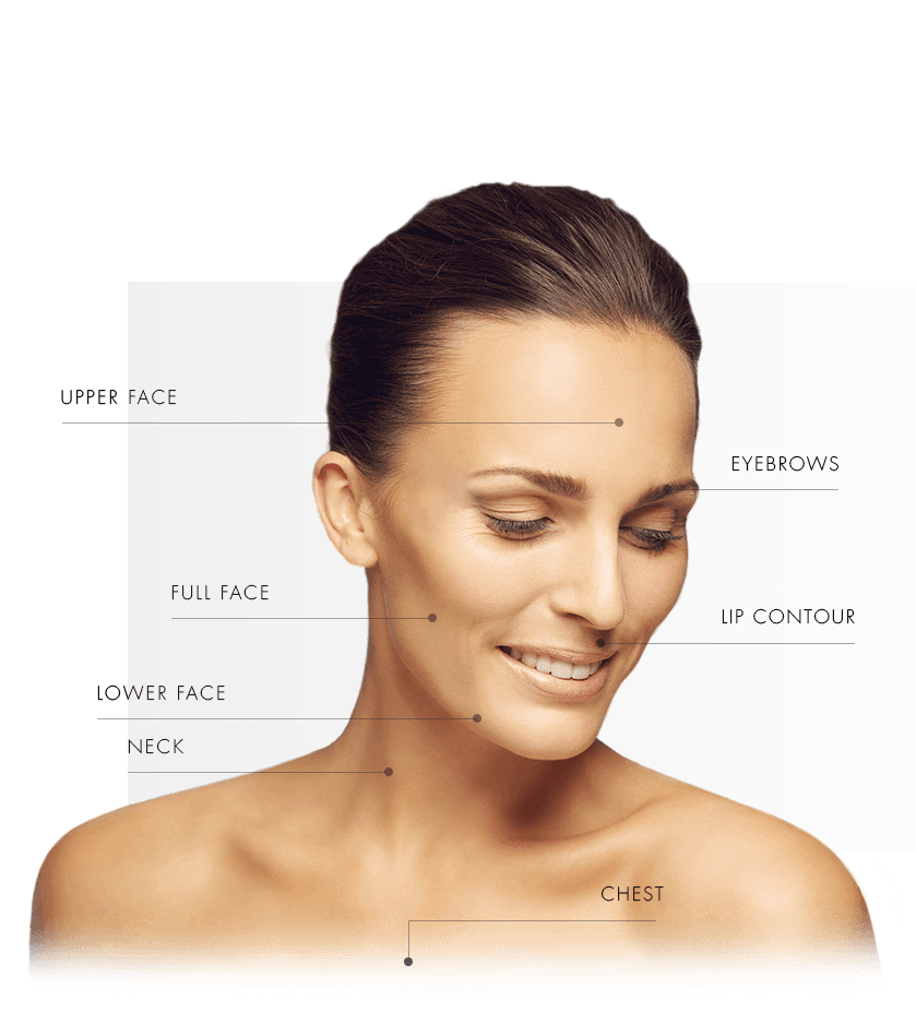 Treatment areas venus freeze women